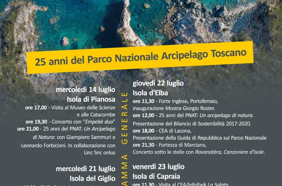 25 YEARS OF PARCO NAZIONALE ARCIPELAGO TOSCANO